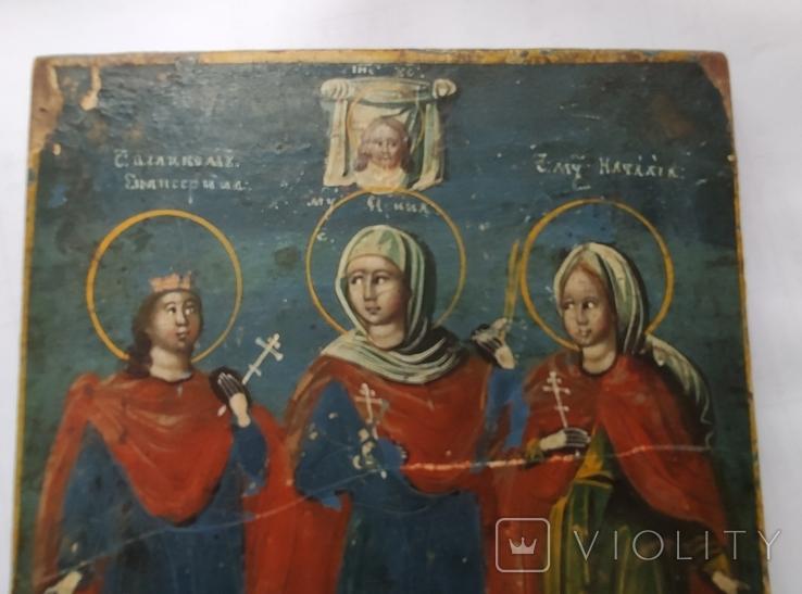 Икона. Св.Екатерина, Св.Мч.Ирина, Св.Муч.Наталия., фото №8