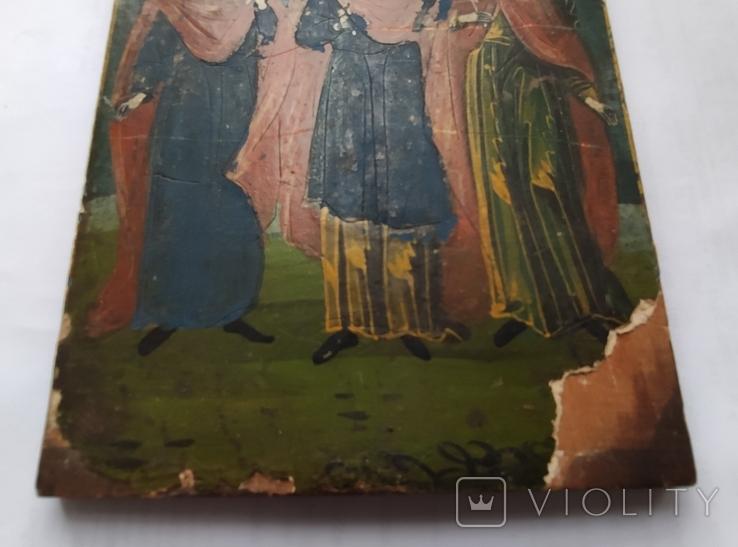 Икона. Св.Екатерина, Св.Мч.Ирина, Св.Муч.Наталия., фото №9