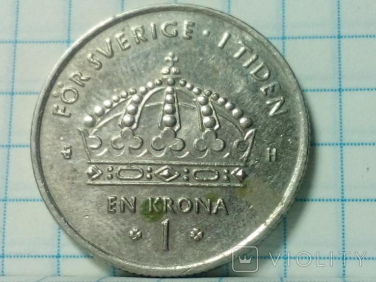 Швеция 1 крона 2003, фото №2