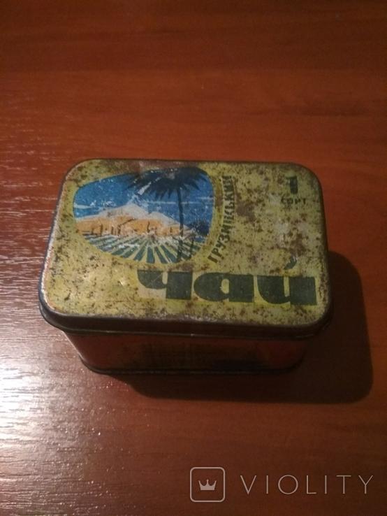 """Коробка для чая"""" Грузинский"""" г.Одесса . СССР., фото №2"""