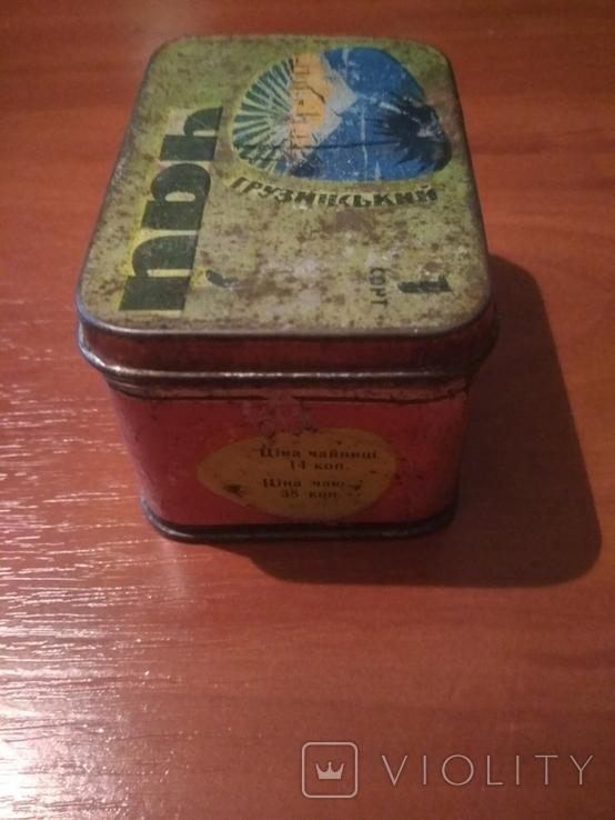 """Коробка для чая"""" Грузинский"""" г.Одесса . СССР., фото №5"""