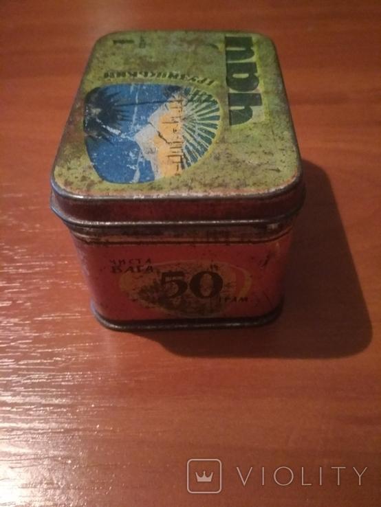 """Коробка для чая"""" Грузинский"""" г.Одесса . СССР., фото №6"""