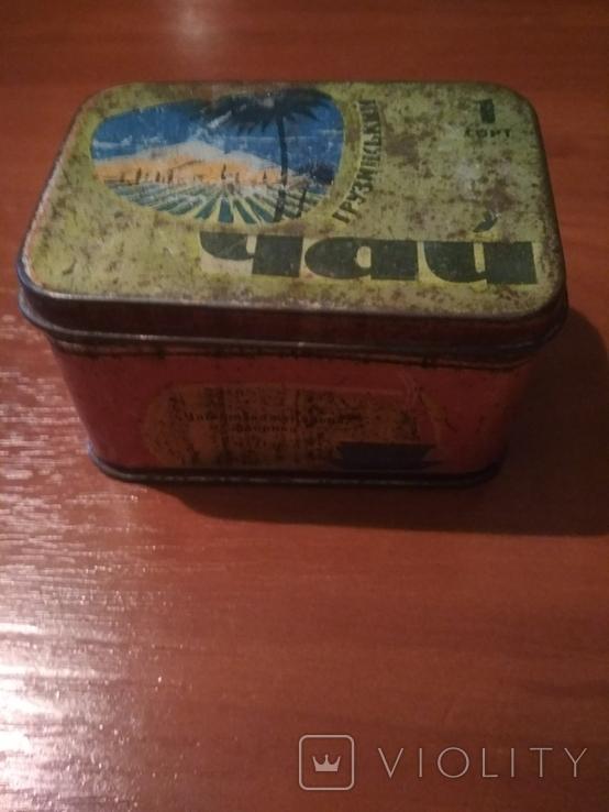 """Коробка для чая"""" Грузинский"""" г.Одесса . СССР., фото №7"""