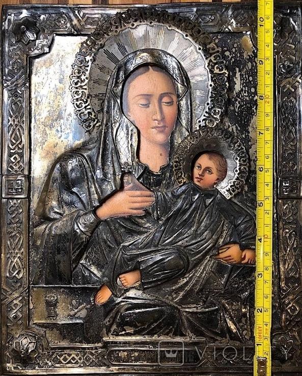 Икона в серебрянном окладе, фото №3