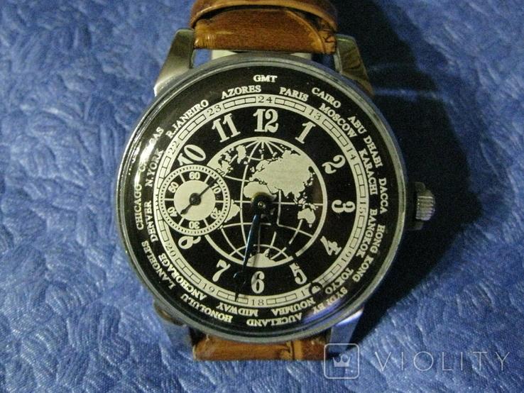 Часы Молния 3602 Мировое Время Рабочие на ремешке, фото №2