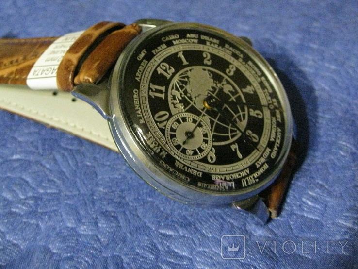 Часы Молния 3602 Мировое Время Рабочие на ремешке, фото №3