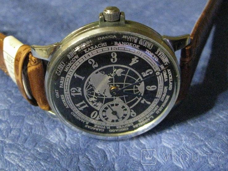 Часы Молния 3602 Мировое Время Рабочие на ремешке, фото №5