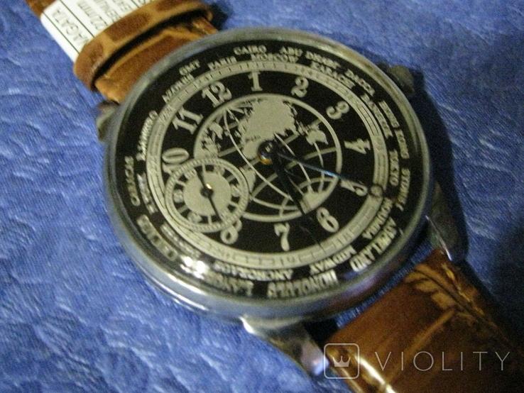 Часы Молния 3602 Мировое Время Рабочие на ремешке, фото №6