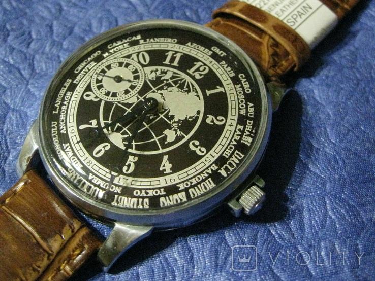 Часы Молния 3602 Мировое Время Рабочие на ремешке, фото №7