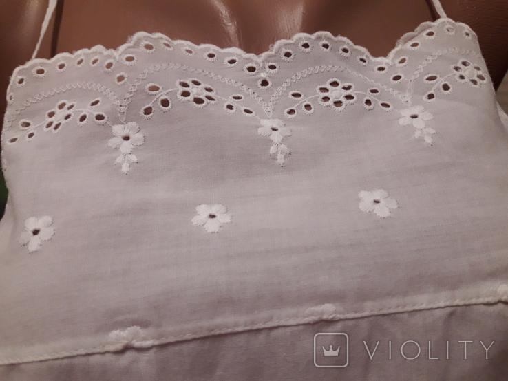 Короткая сорочка кружево вышивка хлопок, фото №3