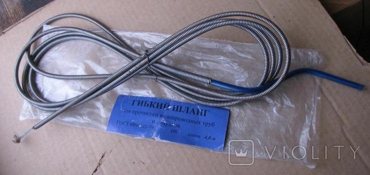 Гибкий шланг для прочистки водопроводных труб и санузлов (4 м), фото №2