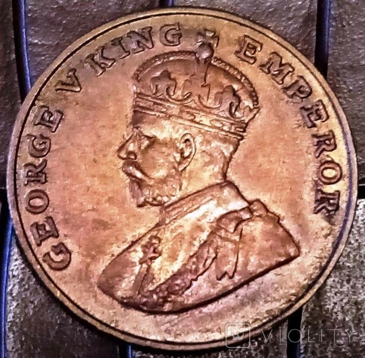8 аннас 1930-ті роки    -копія   Індія/мідь/, фото №2