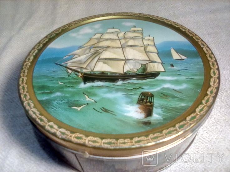 "Коробка жестяная печенье ""Tall Ships""Jacobsens Bakery Ltd. Denmark, фото №3"