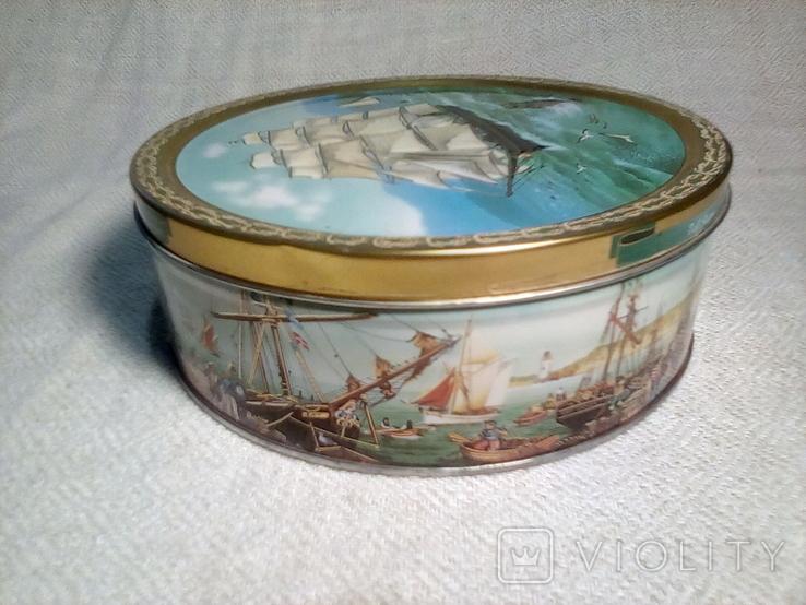 "Коробка жестяная печенье ""Tall Ships""Jacobsens Bakery Ltd. Denmark, фото №5"