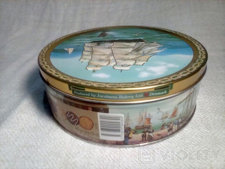 "Коробка жестяная печенье ""Tall Ships""Jacobsens Bakery Ltd. Denmark, фото №11"