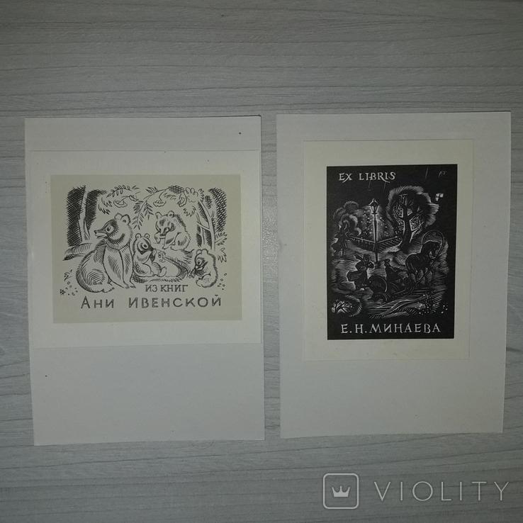 Книжные знаки В.А. Фролова 12 экслибрисов 1969, фото №6