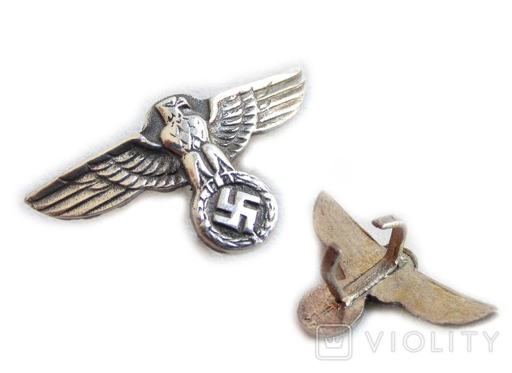 III REICH имперский орел, птица, курица, рукоятки кинжала SS, SA, СА, СС серебро. Копия., фото №3