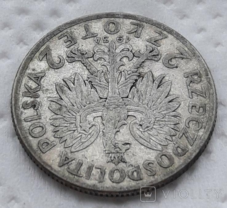 Польша 2 злотых 1934 год, фото №5