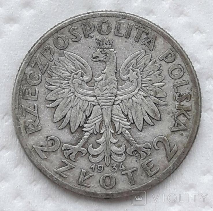 Польша 2 злотых 1934 год, фото №7