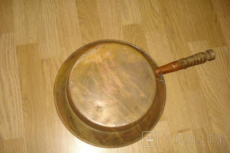 Латунная сковородка (таз), фото №3
