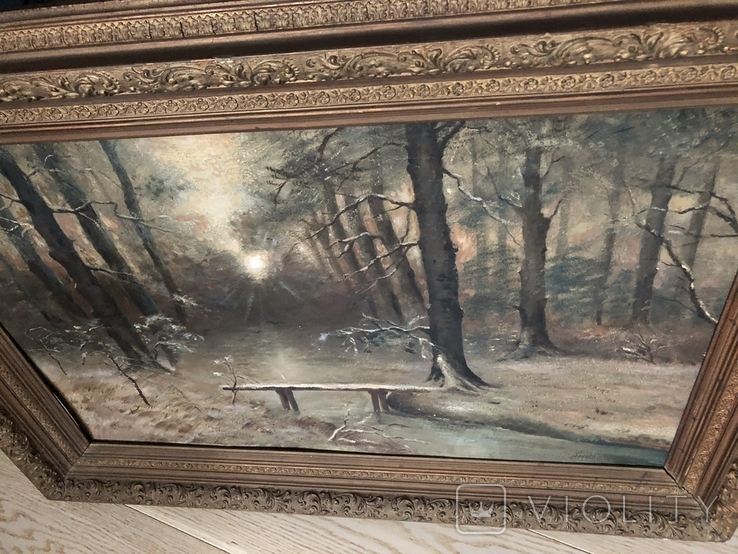 Старая картина,  масло, фото №13