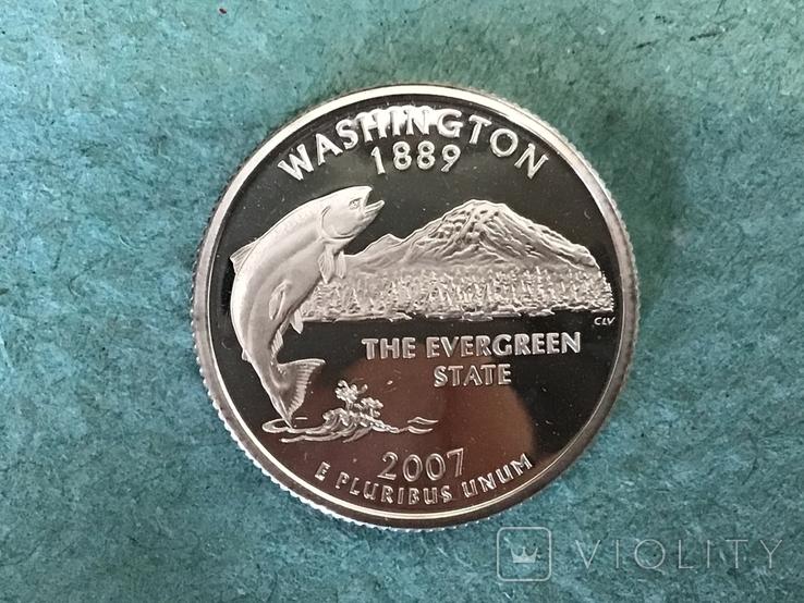 25 центов сша 2007 г. Серебро, фото №2