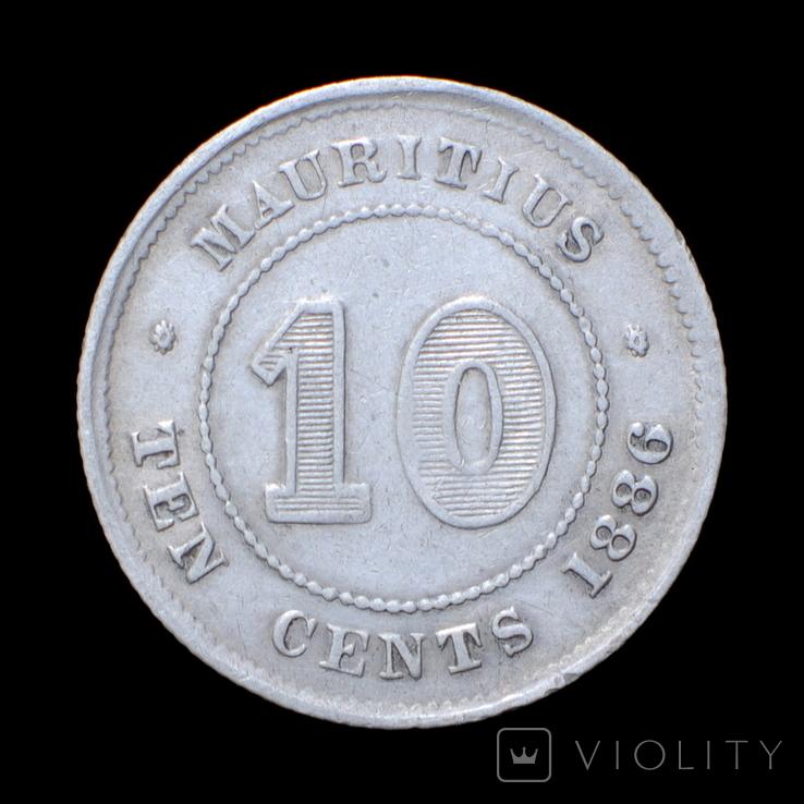 10 Центів / Центов 1886, Маврикій / Маврикий, фото №2