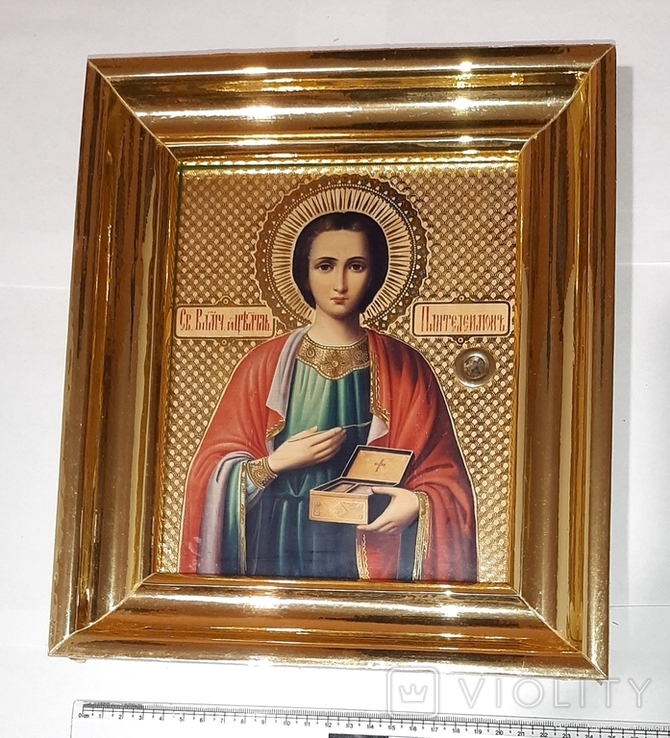 Икона св. Пантелеймона, фото №7