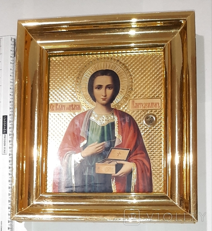 Икона св. Пантелеймона, фото №8