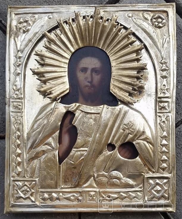 Ікона Ісус, латунь, 17,5х14,4 см, фото №4
