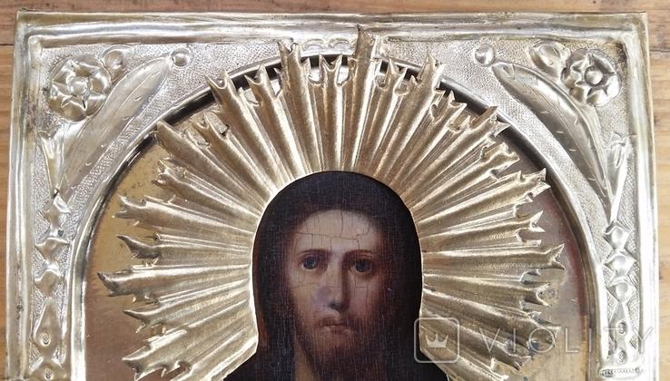 Ікона Ісус, латунь, 17,5х14,4 см, фото №6