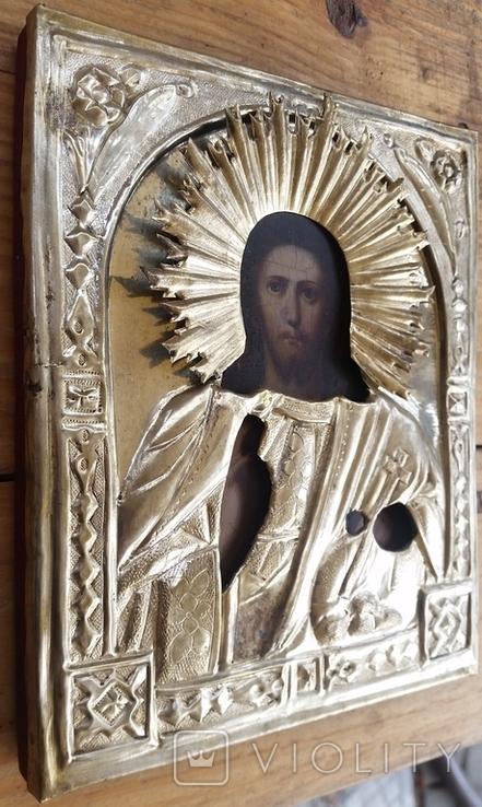 Ікона Ісус, латунь, 17,5х14,4 см, фото №9