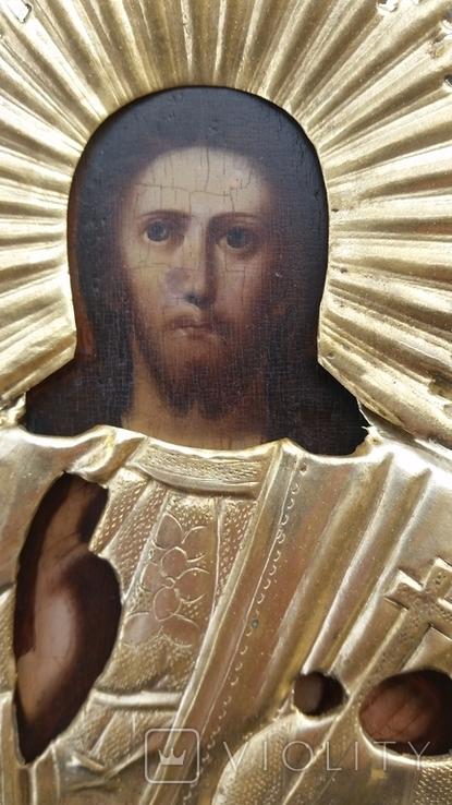 Ікона Ісус, латунь, 17,5х14,4 см, фото №11