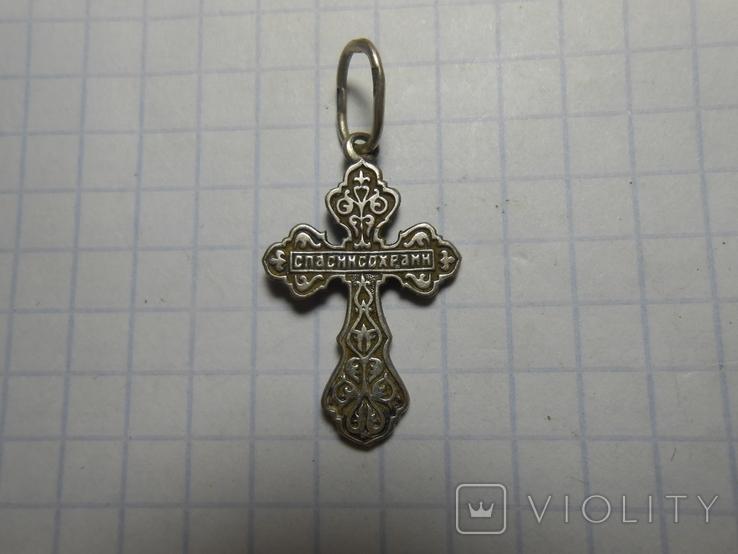 Крестик нательный Серебро 925 Вес - 1,62 грамм, фото №4
