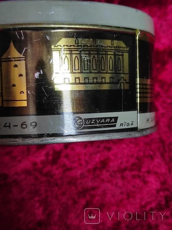 Банка жестяная Рига СССР  карамель  Рижская смесь  Лот 5, фото №4