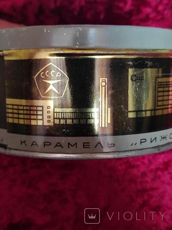 Банка жестяная Рига СССР  карамель  Рижская смесь  Лот 5, фото №6