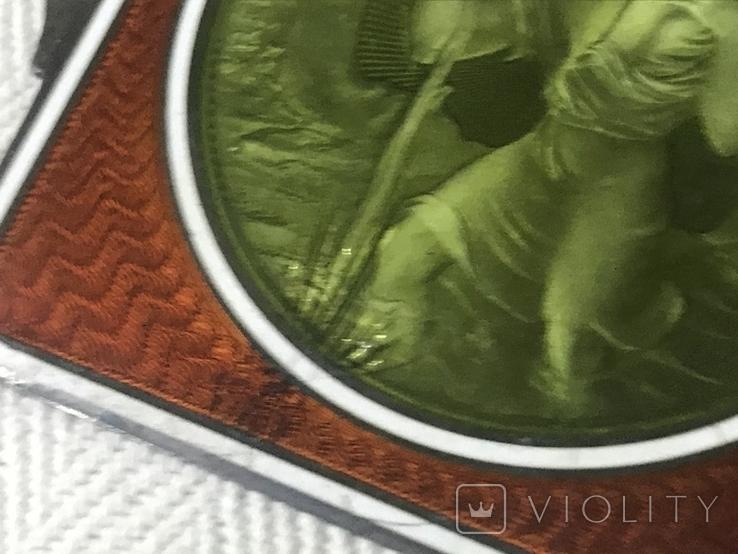 Старая икона с эмалью, фото №4