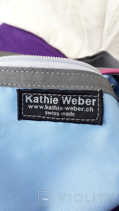 Сіра шкіряна сумка, фото №7