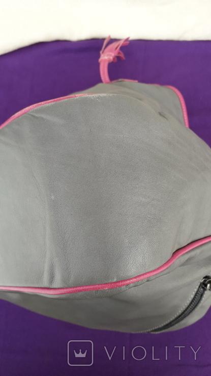 Сіра шкіряна сумка, фото №10