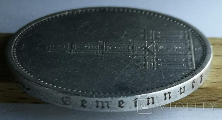 5 марок 1935 А Кирха Гарнизонная церковь в Потсдаме, фото №8