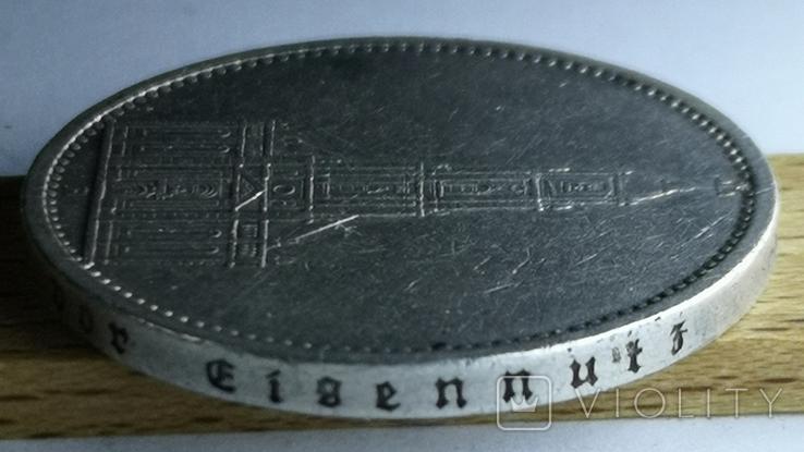 5 марок 1935 А Кирха Гарнизонная церковь в Потсдаме, фото №10