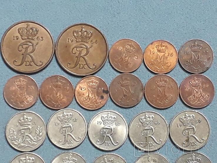 Монеты Дании 26 штук Все разные, фото №4