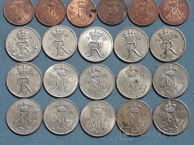 Монеты Дании 26 штук Все разные, фото №5