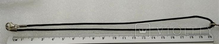 Кулон Подвеска на Шнурке Серебро 925 Нефрит, фото №5
