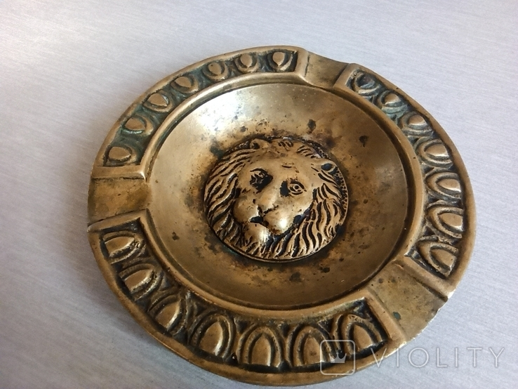 Пепельница Голова Льва, старинная. Л630, фото №3