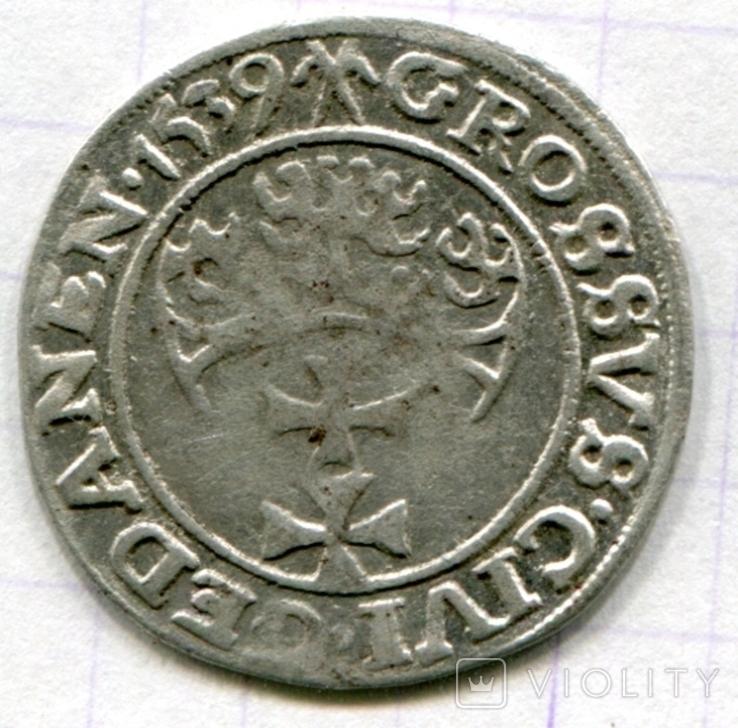 Сігізмунд 1 гріш 1539 рік м. Гданськ - Данціг, фото №2