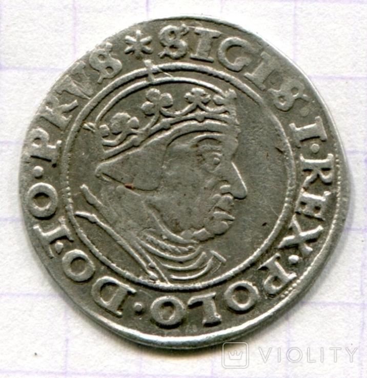 Сігізмунд 1 гріш 1539 рік м. Гданськ - Данціг, фото №3