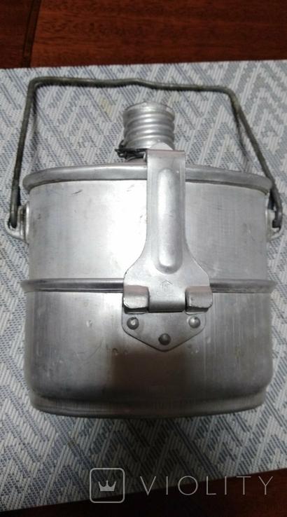 Фляга с котелком алюминий, фото №4