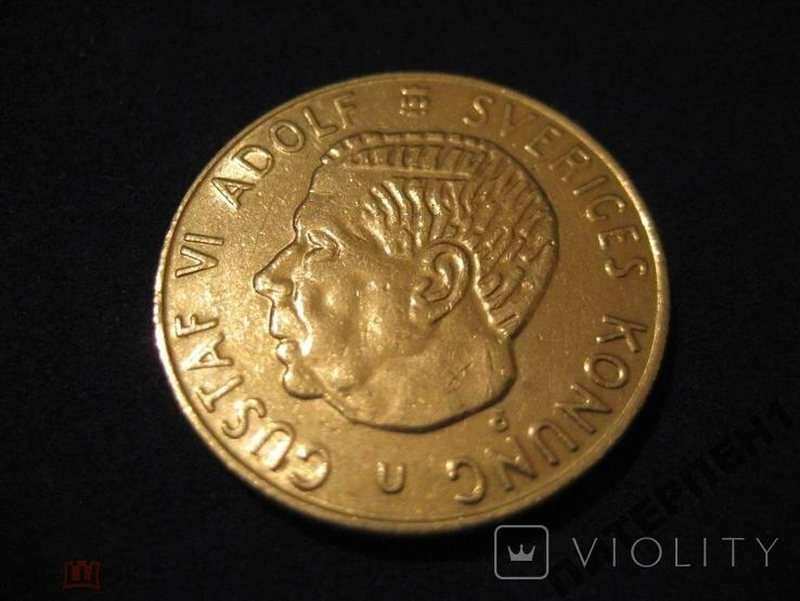 Швеция 1 крона 1973 U, фото №2