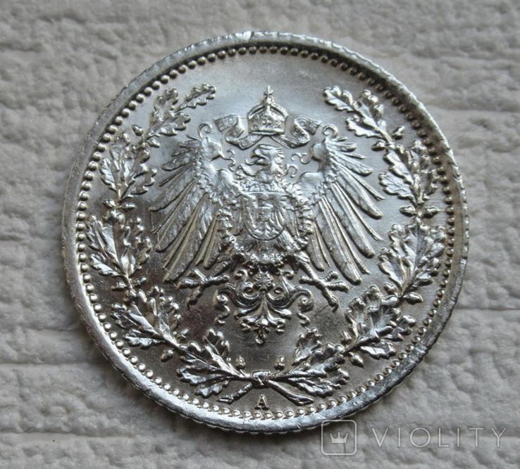 1/2 марки 1917 г. (А) Германия, серебро, фото №8